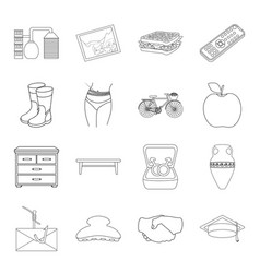 Fitness furniture computer and other web icon in vector