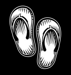 Flip flop shoe icon vector