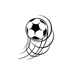 football soccer ball trace isolated goal kick icon vector image