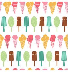 Fun ice cream stripes seamless pattern vector