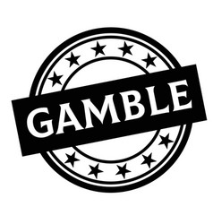 Gamble stamp on white vector