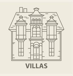 glamping villa accommodation vector image