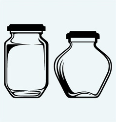 Glass jars vector