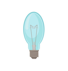 Glass oval-shaped lamp incandescent light bulb vector