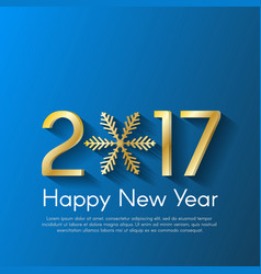 Golden new year 2017 concept on blue background vector