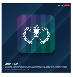 golf champion icon vector image