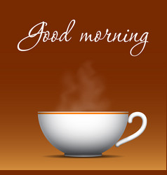 Good morning coffee background vector
