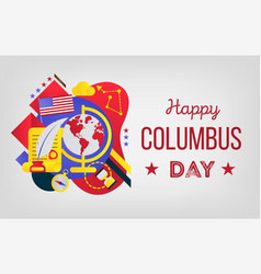 Happy columbus day great vector