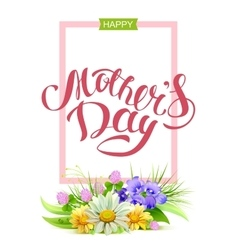 Happy mothers day Holiday for mom Greeting card vector image
