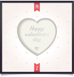 Heart in picture frame vector