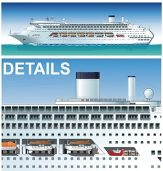 hi-detailed cruise ship vector image