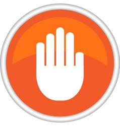 Icon hand vector