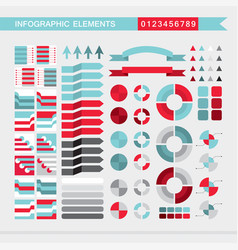 infographic elements arrowssignsbars vector image