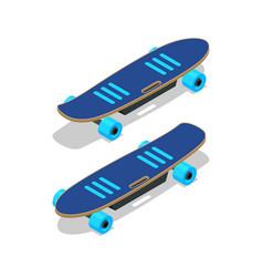 Isometric electric skateboard or longboard vector