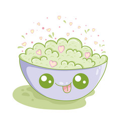 Kawaii of a plate with cornflakesicon design vector