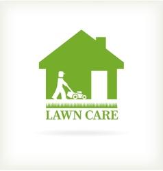 Lawn care symbol vector