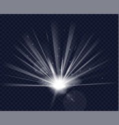 magic flare effect vector image