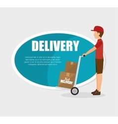 man courier delivery cardboard boxes vector image
