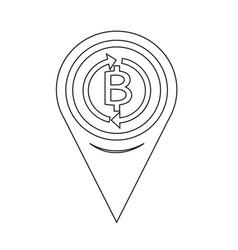 Map pin pointer money thai bath icon vector