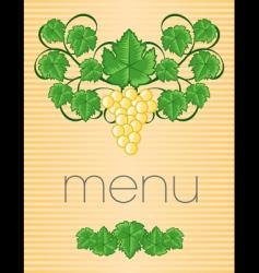 menu22 vector image