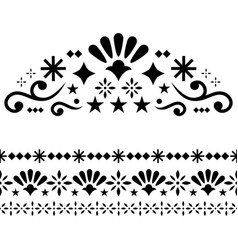 mexican design elements traditional vector image