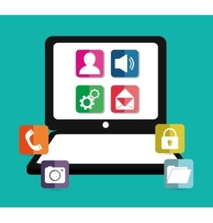 Mobile applications shop entertainment vector