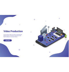 Mobile video editing and production on the vector