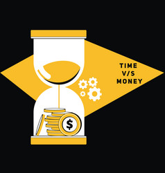 money with sand glass vector image