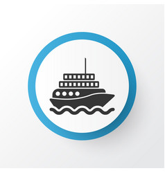 motor ship icon symbol premium quality isolated vector image