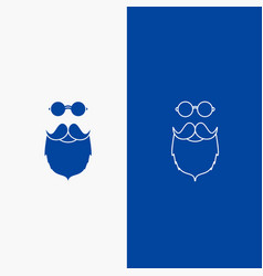 Moustache hipster movember beared men line and vector