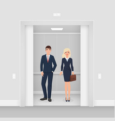 office business people couple in formal clothes vector image