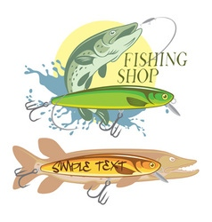 pike fishing vector image