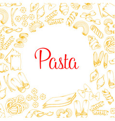 Poster pasta for italian cuisine design vector