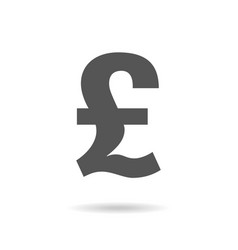 Pound icon on white vector