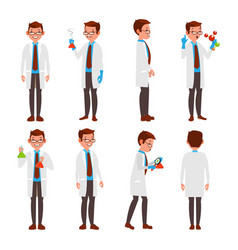 Professional scientist modern young worker vector