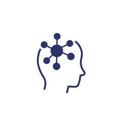 psychology icon with head vector image