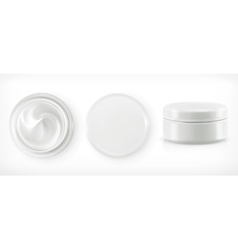 Round packaging of cream vector image