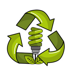 saving planet bulbs icon vector image