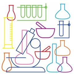 School and education icon - beaker vector image