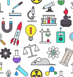 Science colorful pattern icons vector image