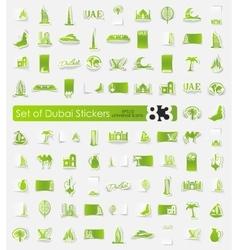 Set of Dubai stickers vector