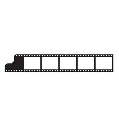 six frames 35 mm film strip edge vector image
