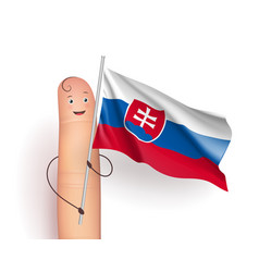 Slovakia flag hold by finger vector