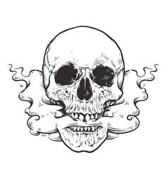 Smoking skull art vector