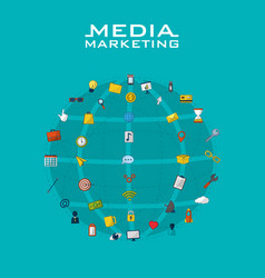 social media marketing vector image