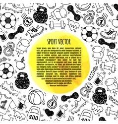 Sport frame circle vector