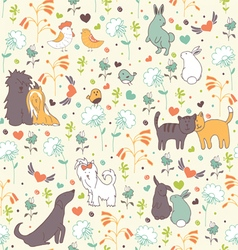 Spring seamless pattern pattern vector