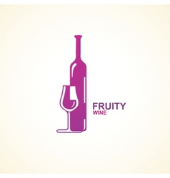 Stylized wine icon vector