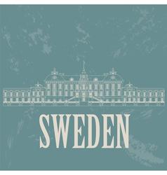 Sweden landmarks Retro styled image vector