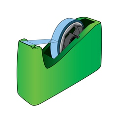 Tape dispenser with adhesive tape vector